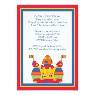 Bounce House Invitations: Whimsy Boys Card