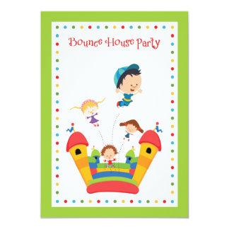 Bounce House Kids Birthday Invitation