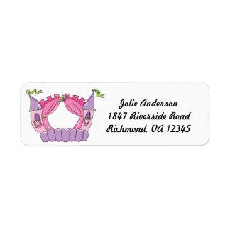 Bounce House Return Address Label : Princess