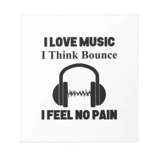 Bounce music notepad