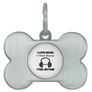 Bounce music pet name tag