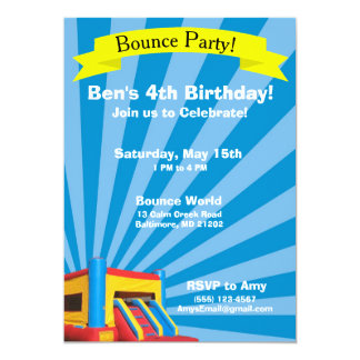 Bounce Party Birthday Invitation