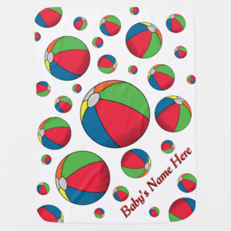 Bouncing Beach Balls Baby Blanket