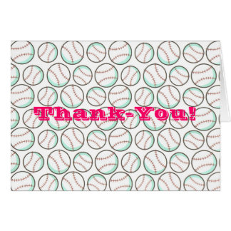 Bouncing Softballs Thank-you Notecards Card