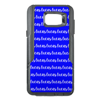 Bouncy Bright Blue Color White Name Text OtterBox Samsung Note 5 Case