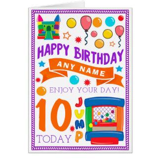 Bouncy Castle Personalised Birthday Card