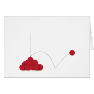 Bouncy red dot card