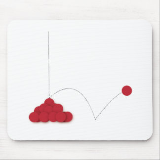 Bouncy red dot mouse pad