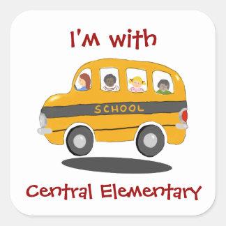 Bouncy School Bus Identification Stickers