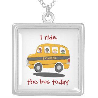 Bouncy School Bus Rider Necklace