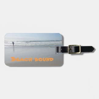 Bound for the beach luggage tag