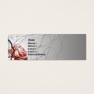 Bound Rose Goth Business Card