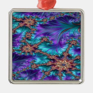Boundary and Conflict Fractal Design Metal Ornament