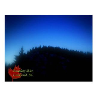 Boundary Skies, Greenwood, BC Postcard