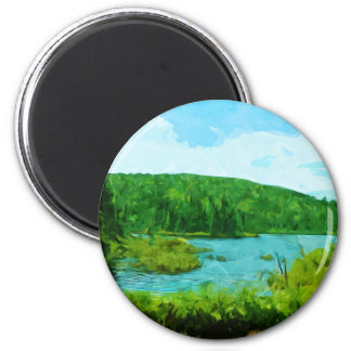 Boundary Waters Canoe Area Minnesota Abstract Magnet