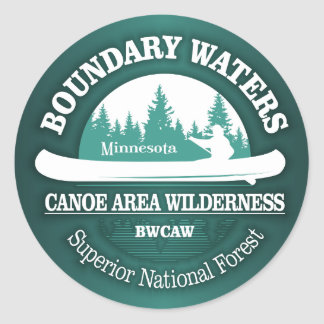 Boundary Waters Canoe Trail Wilderness Classic Round Sticker