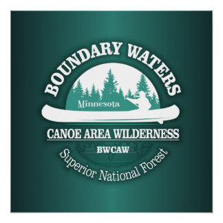 Boundary Waters Canoe Trail Wilderness Poster
