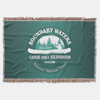Boundary Waters Canoe Trail Wilderness Throw Blanket