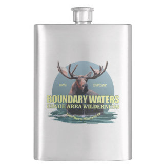Boundary Waters CAW (Moose) WT Hip Flask
