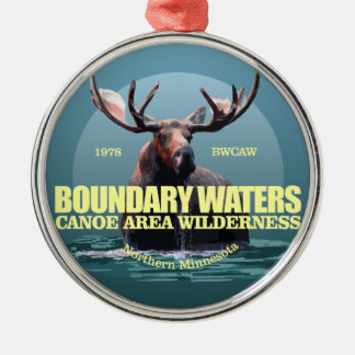 Boundary Waters CAW (Moose) WT Metal Ornament