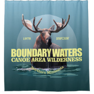 Boundary Waters CAW (Moose) WT Shower Curtain