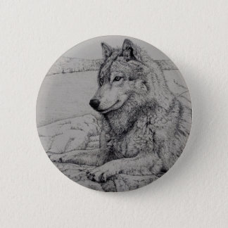 Boundary Waters Wolf 6 Cm Round Badge