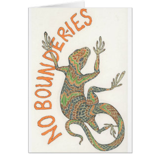 Bounder the Lizard Card