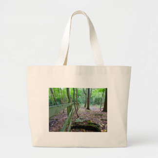 Boundry to the woods tote bags