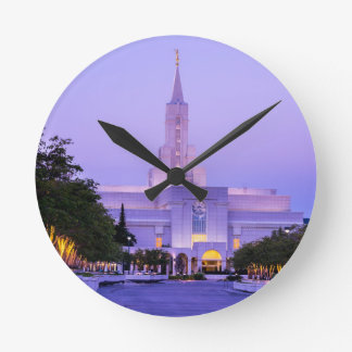 Bountiful LDS Mormon Temple Sunrise - Utah Wall Clock