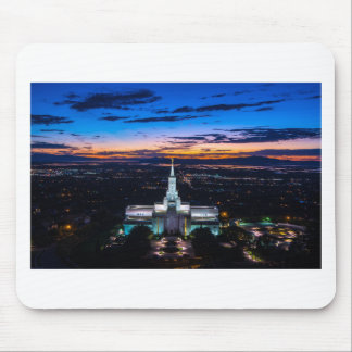 Bountiful Lds Mormon Temple Sunset Mouse Pad