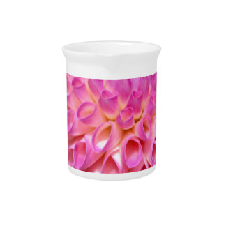 Bountiful Pink Dahlia and Bud Poster Pitcher
