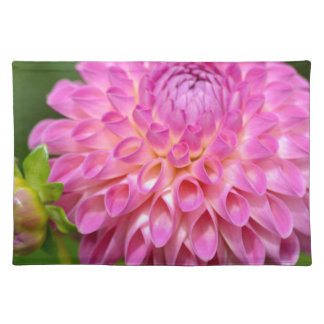 Bountiful Pink Dahlia and Bud Poster Placemat