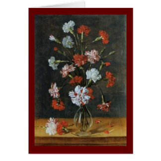 Bouquest of Carnations Card