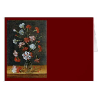Bouquest of Carnations Greeting Cards