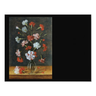 Bouquest of Carnations 11 Cm X 14 Cm Invitation Card