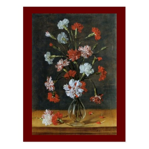 Bouquest of Carnations Post Card