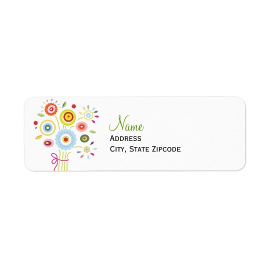 Bouquet Bridal Shower Address Label