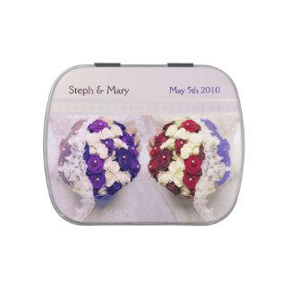 Bouquet Bride Jellie Bellies Lesbian Wedding Favor Candy Tins