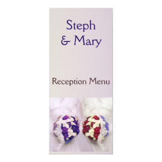 Bouquet Bride Wedding Reception Menu 10 Cm X 24 Cm Invitation Card