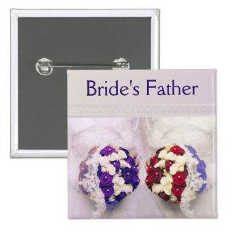 Bouquet Brides Badge for a Lesbian Bride's Father