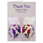 Bouquet Brides Card: Lesbian Wedding Thank You Greeting Card
