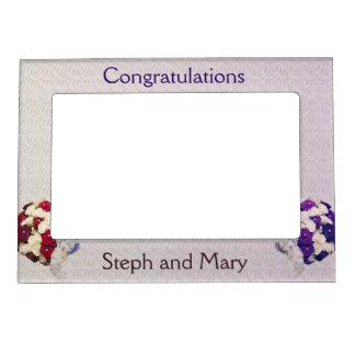 Bouquet Brides Lesbian Wedding Gift Frame Magnetic Frame