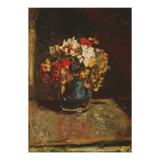 Bouquet by Adolphe Monticelli Poster