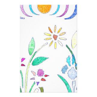 Bouquet Floral Design Stationery Paper