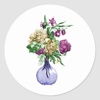 Bouquet in a Glass Vase Stickers