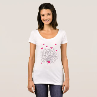 bouquet in the cup with hearts T-Shirt