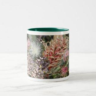Bouquet of Australian Native Flowers Two-Tone Mug