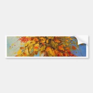 Bouquet of autumn bumper sticker