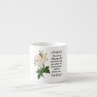 Bouquet of Beautiful White Roses Espresso Mug