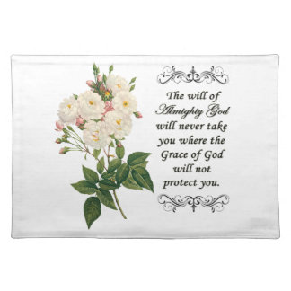 Bouquet of Beautiful White Roses Placemat